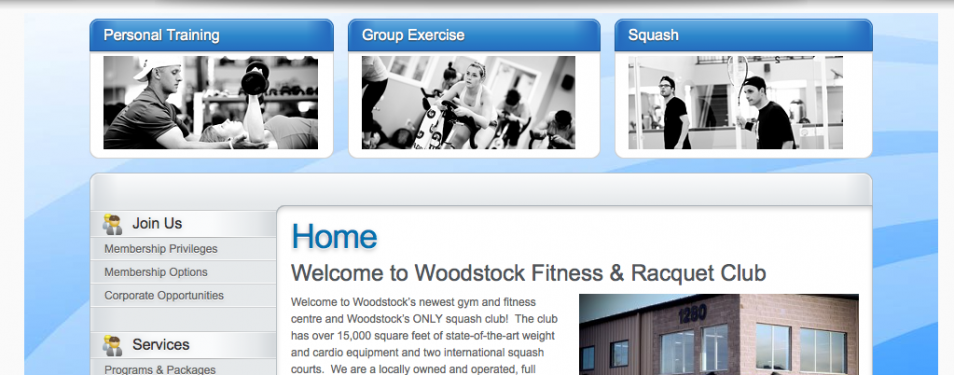 Client – Woodstock Fitness & Racquet Club...